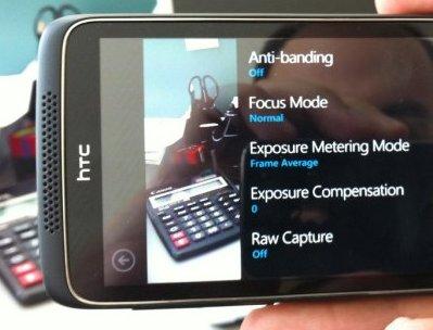 Un móvil HTC que hace fotos en RAW