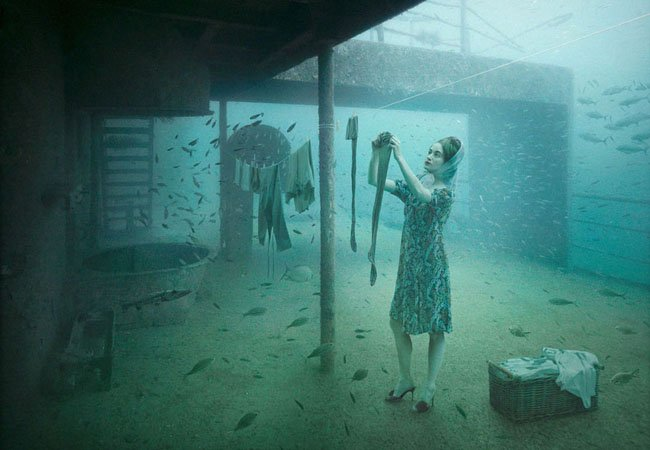Andreas Franke y su exposición debajo del mar