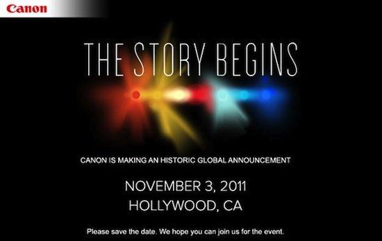 Canon prepara una gran sorpresa para el día 3 de noviembre