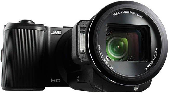 JVC crea un híbrido entre cámara digital y cámara de vídeo
