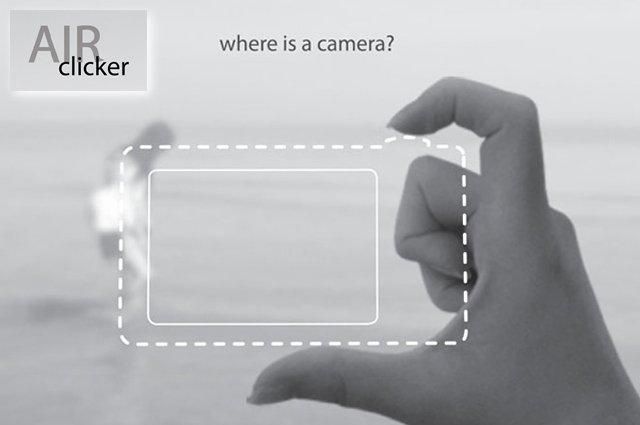Air Clicker, una cámara a dos dedos