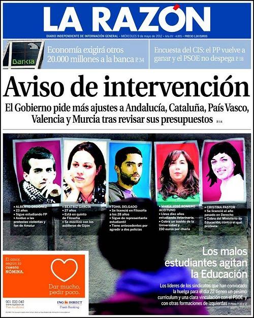 La portada más controvertida de La Razón es un montaje
