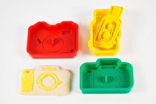 Moldes de galletas con forma de cámara réflex