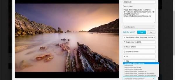 500px ya tiene Creative Commons