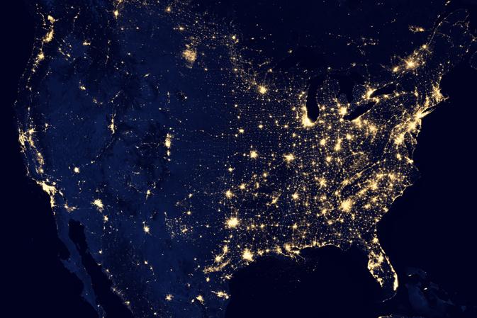 La NASA hace el mejor retrato nocturno de la Tierra