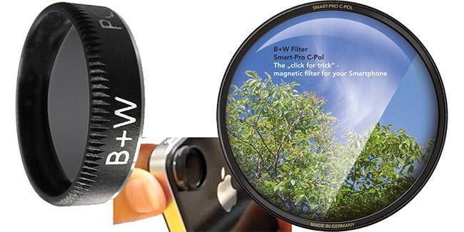 Filtro Polarizador para smartphones y tablets