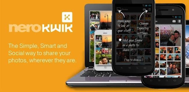 NeroKwik, una nueva aplicación para intercambia fotografías móviles