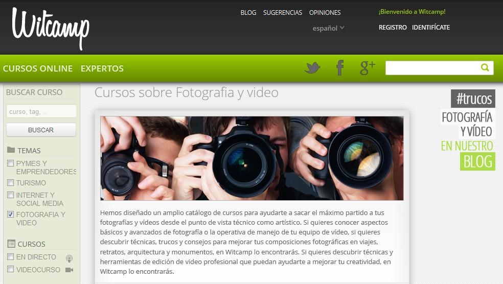 Witcamp, formación online de fotografía y vídeo