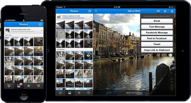 Dropbox se renueva en cuestión de fotografías