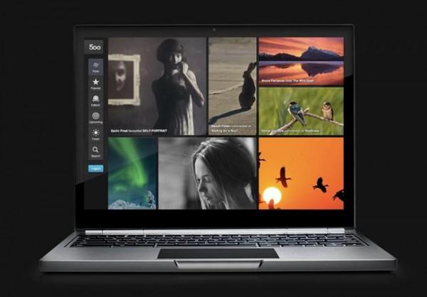 500px vuelve a renovarse con una nueva interfaz para el navegador Chrome