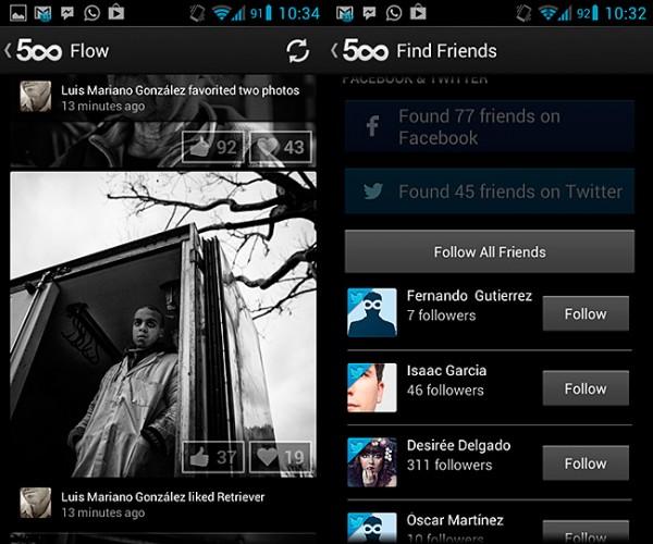 500px vuelve a actualizarse, esta vez para dispositivos Android