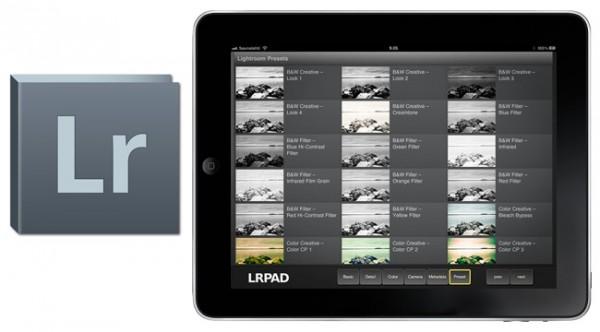 LRPPAD, un programa para controlar Adobe Lightroom desde el iPad
