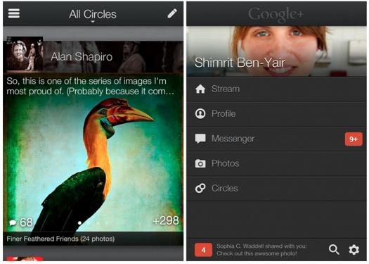 Google+ se actualiza para iOS
