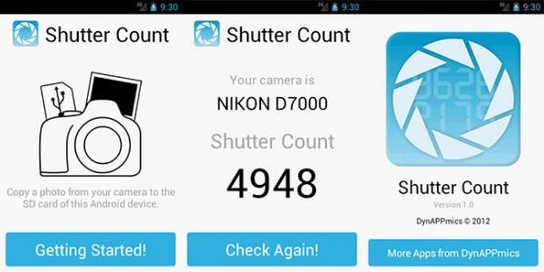 Shutter Count, la nueva aplicación de Nikon para contabilizar los disparos