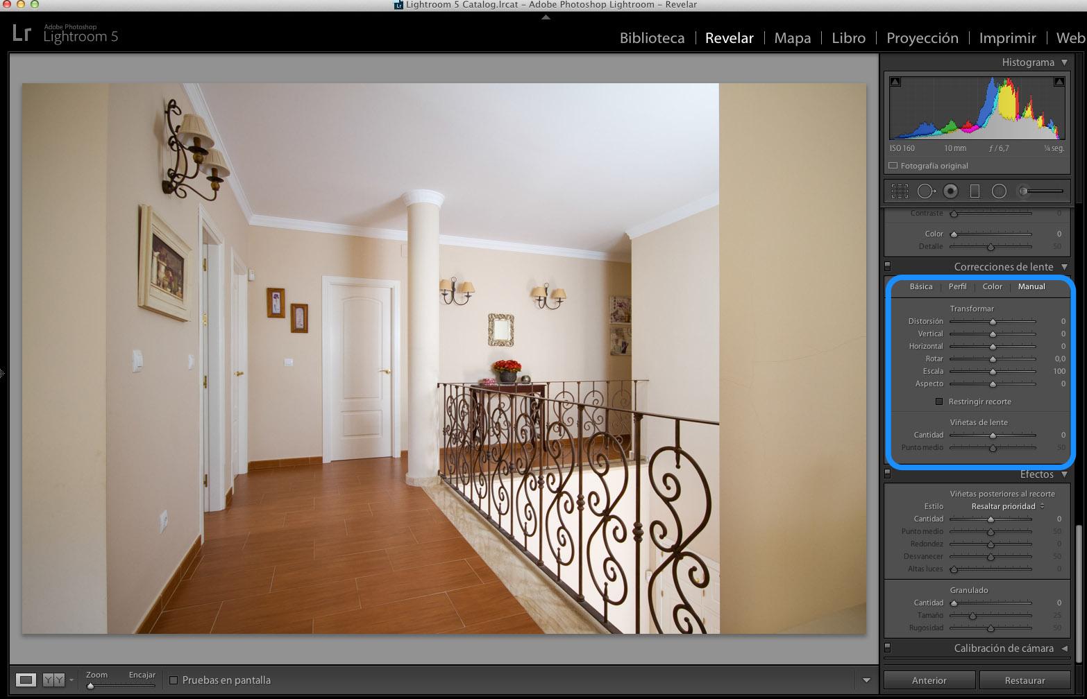 Las claves de la fotografía de interiores: la corrección de lente (II)