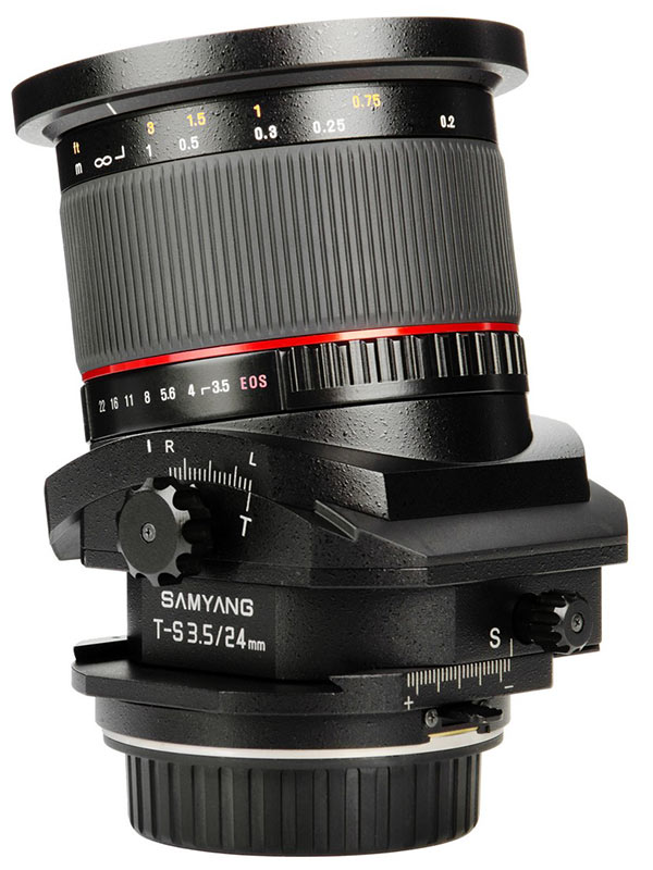 Samyang se atreve con un gran angular descentrable para Full Frame