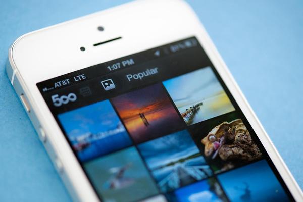 500px se actualiza para iPhone
