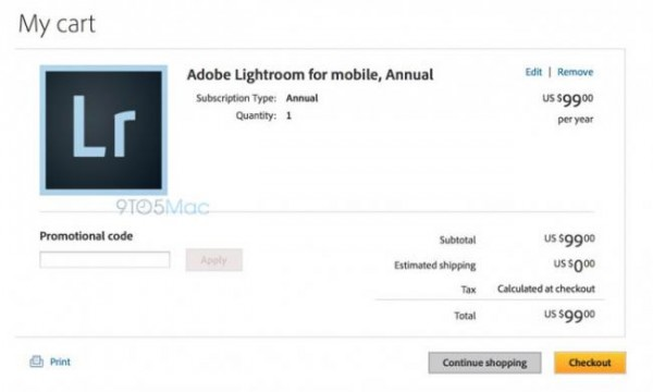 Lightroom estará disponible para tabletas iPad