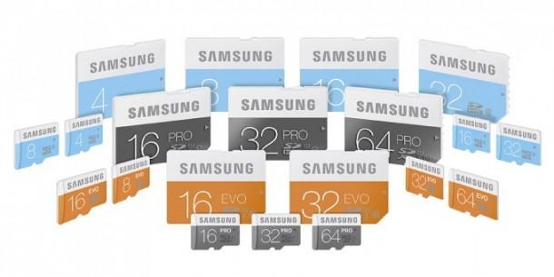 Samsung saca tres nuevas gamas de tarjetas de memoria