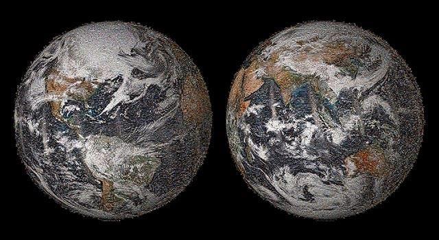 La NASA emplea 36.000 selfies para ponerle cara a la Tierra