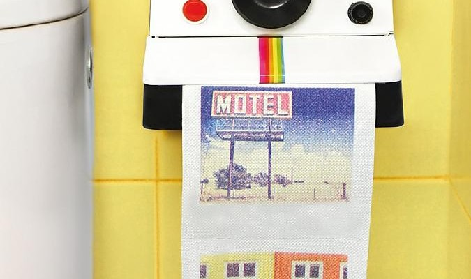 Papel Higiénico con Fotos Instantáneas para regalar a un fotógrafo