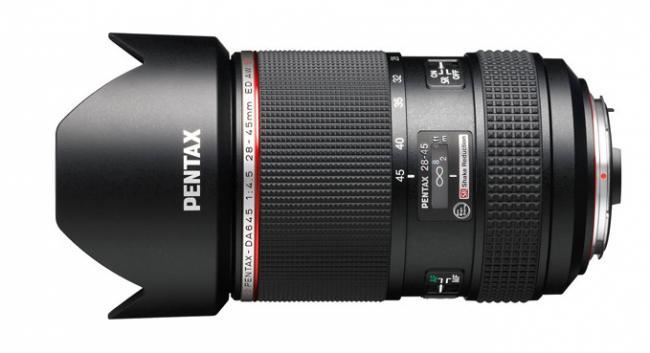 Pentax HD DA645 28-45 mm f/4.5 ED AW SR, el nuevo objetivo gran angular