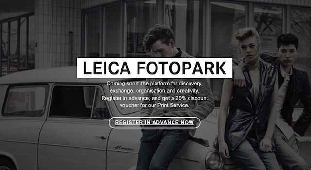 Fotopark, nuevo servicio de almacenamiento, administración e impresión online de Leica