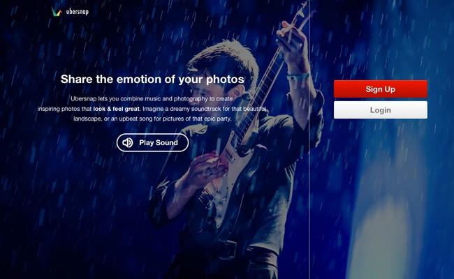 Ubersnap, compartiendo fotografías con música