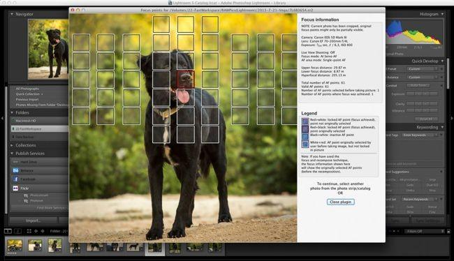 Show Focus Points, el nuevo pluging de Lightroom